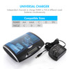 Combo: Tenergy T9688 Universal LCD Battery Charger + 4 Pack Tenergy Rechargeable D Batteries