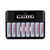 Combo: Tenergy TN480U 8-Bay NiMH Battery LCD Display Fast Charger + 8 pc 2500mah AA Rechargeable Batteries