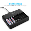 Combo: Tenergy TN477U 8-Bay AA/AAA NiMH Rechargeable Battery Charger with USB Input + 8X Standard AA Batteries