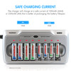 Combo: TN145 8-Bay AA/AAA NiMH/NiCd Charger + 8 AAA NiMH Rechargeable Batteries