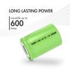 25pcs Tenergy 4/5 Sub C 2000mAh NiMH Flat Top Rechargeable Batteries