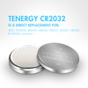 100pcs (10 x Cards) Tenergy CR2032 Lithium Button Cells
