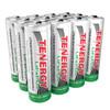 12pcs Tenergy 3.2V 400mAh 14500 AA Size LiFePO4 Rechargeable Batteries