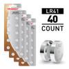 40pcs LR41 / AG3 1.5V Alkaline Button Cells