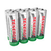 8pcs Tenergy 3.2V 400mAh 14500 AA Size LiFePO4 Rechargeable Batteries