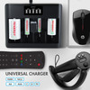 Tenergy TN486U 5-Bay Universal Battery Charger with LCD, Micro USB/Type C Input
