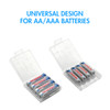 10 PCS Tenergy Plastic Battery Case for AAA Size (Batteries sold separately)
