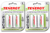 4-pack (2 x Cards) Tenergy Centura NiMH C 1.2V 4000mAh Rechargeable Batteries