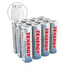 Combo: 12 pcs Tenergy Premium AA 2500mAh NiMH Rechargeable Batteries + 3 AA Size Holders