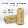 15pcs Tenergy NiCd SubC 2200mAh Paper Wrapped Rechargeable Battery (Flat Top)