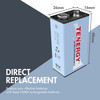 Combo: 20pcs Tenergy 9V 250mAh NiMH Rechargeable Batteries