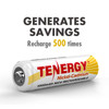 Combo: Tenergy NiCD AA 1.2V 1000mAh Rechargeable Battery, 24-pack, for Solar/Garden Lights