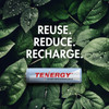 Combo: 4 pcs Tenergy AA 2500mAh NiMH Rechargeable Batteries + 1 Case