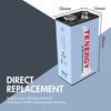 Tenergy NiMH 9V 250mAh Rechargeable Batteries, 4-pack