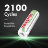 60pcs Tenergy Centura NiMH AA 1.2V 2000mAh Rechargeable Batteries