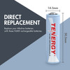 Combo: 8 pcs Tenergy AA 2500mAh NiMH Rechargeable Batteries + 2 Cases