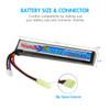 Combo: Tenergy Airsoft Li-Po 11.1V 1200mAh Stick Battery Pack w/ Mini Tamiya Connector + Balance Charger (#01267)