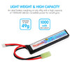 Combo: Tenergy Airsoft Li-Po 7.4V 1000mAh Stick Rechargeable Battery Pack w/ Mini Tamiya Connector + Balance Charger (#01267)