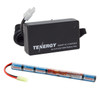 Combo: Tenergy Airsoft NiMH 8.4V 1600mAh Stick Battery Pack + Charger (#01026)