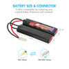 Combo: Tenergy Airsoft NiMH 9.6V 2000mAh Nunchuck  Battery Pack  + Charger (#01026)