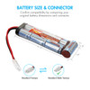 Combo: Tenergy Airsoft NiMH 8.4V 3800mAh Battery Pack with Tamiya  + Charger (#01025)