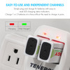 Combo: Tenergy TN141 2-bay 9V Charger + Centura NiMH 9V 200mAh Rechargeable Batteries, 4-pack