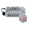 Combo: Tenergy TN145 8-Bay AA/AAA NiMH Battery Charger + 8 AA & 8 AAA Premium Batteries