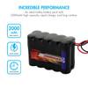 Tenergy NiMH 12V 2000mAh Battery Pack w/ Bare Leads