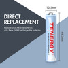 Tenergy AAA 1000mAh NiMH Rechargeable Battery
