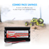 Combo: Tenergy Airsoft NiMH 9.6V 2000mAh Nunchuck  Battery Pack ,2-pack + Charger (#01009)