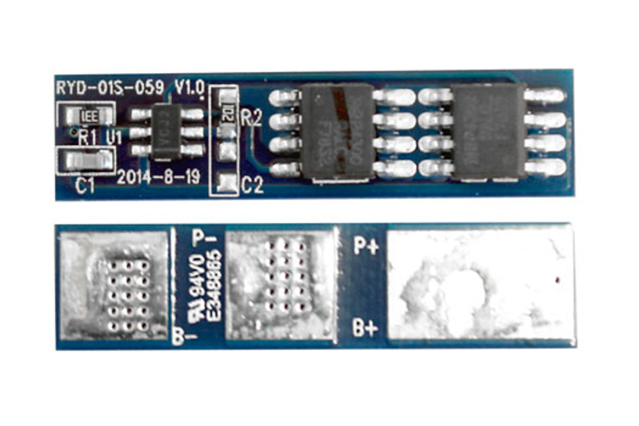 Protection Circuit Module [PCB] for 3.6V/3.7V (1S) Li-ion Battery Pack (Working 6A, Cutoff 15A)