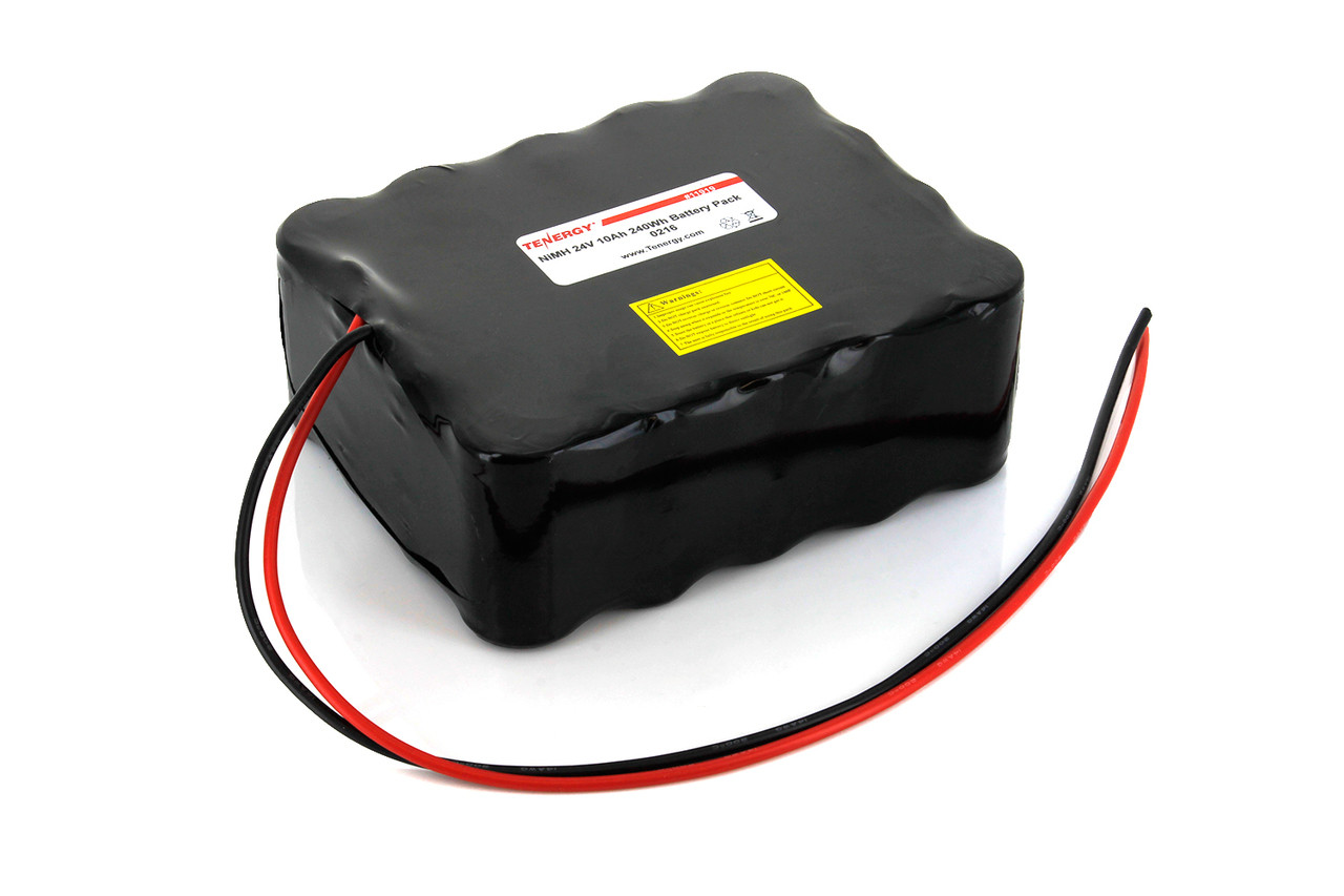 AT: Tenergy 24V 10000mAh NiMH Rechargeable Battery Pack (20S1P, 240.0Wh, 10A Rate, 5x4 Config)