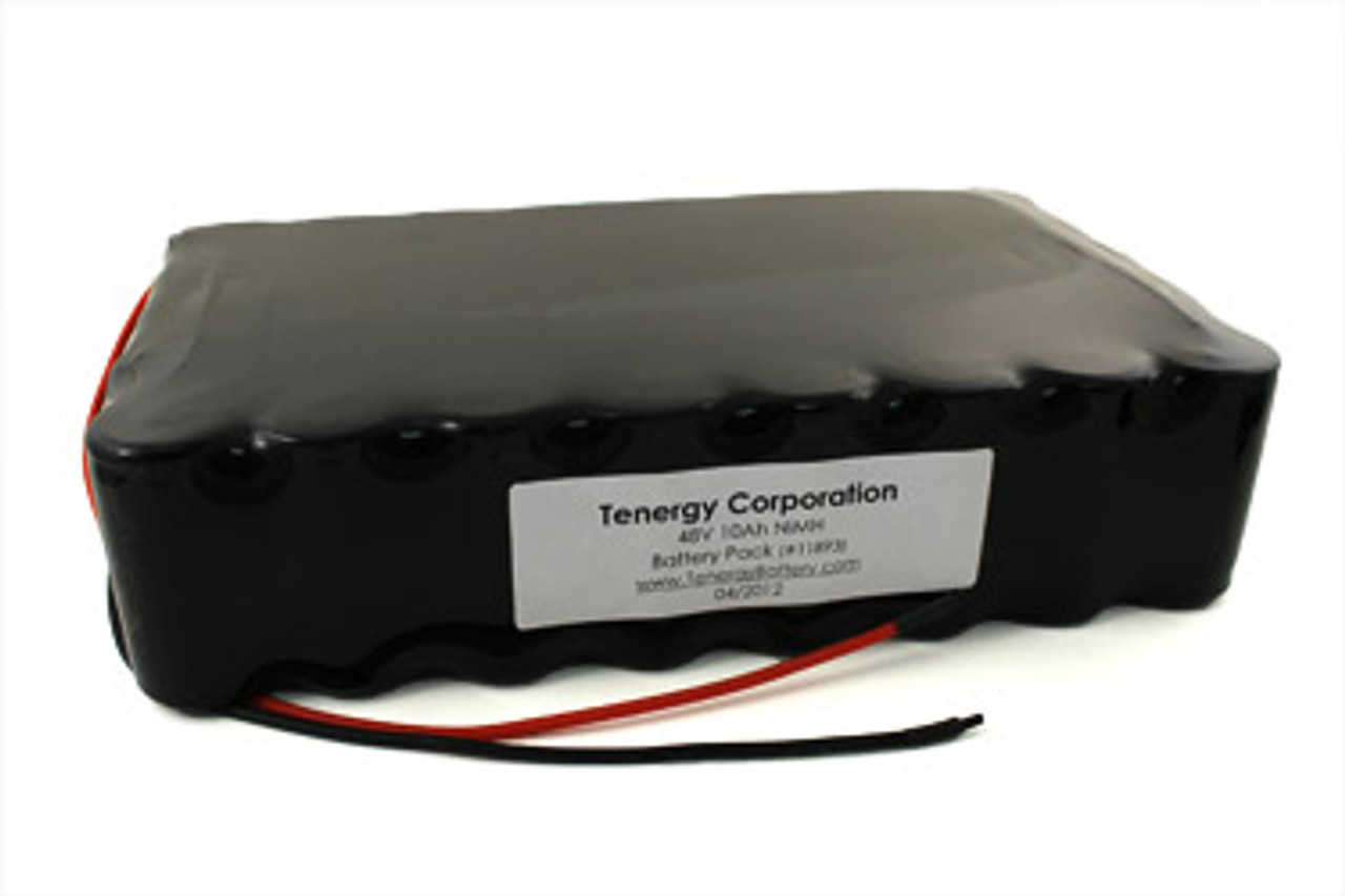 AT: Tenergy 48V 10000mAh NiMH Rechargeable Battery Pack (40S1P, 480.0Wh, 10A Rate)