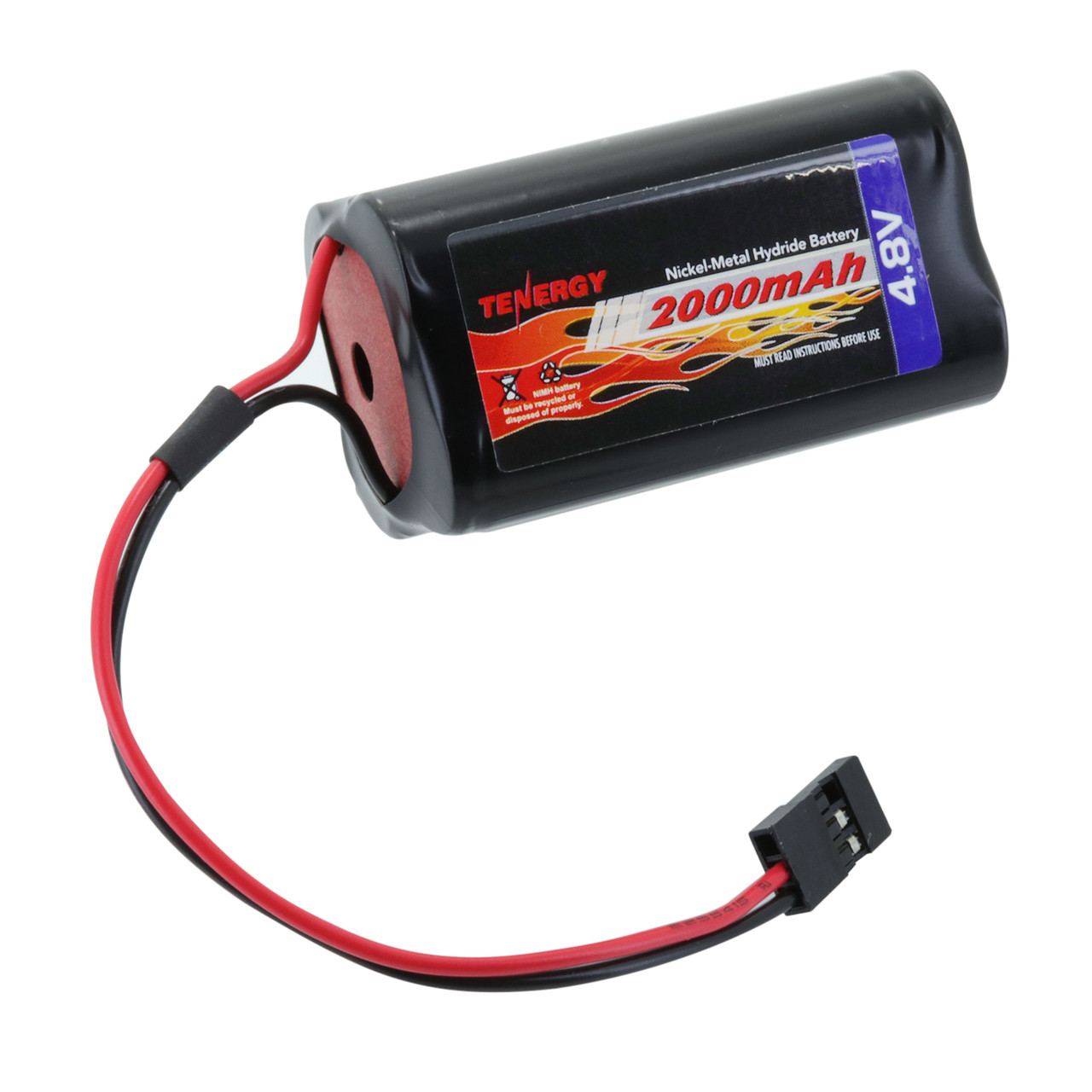 Tenergy NiMH 4.8V 2000mAh Square Receiver RX Battery Pack for RC Airplanes
