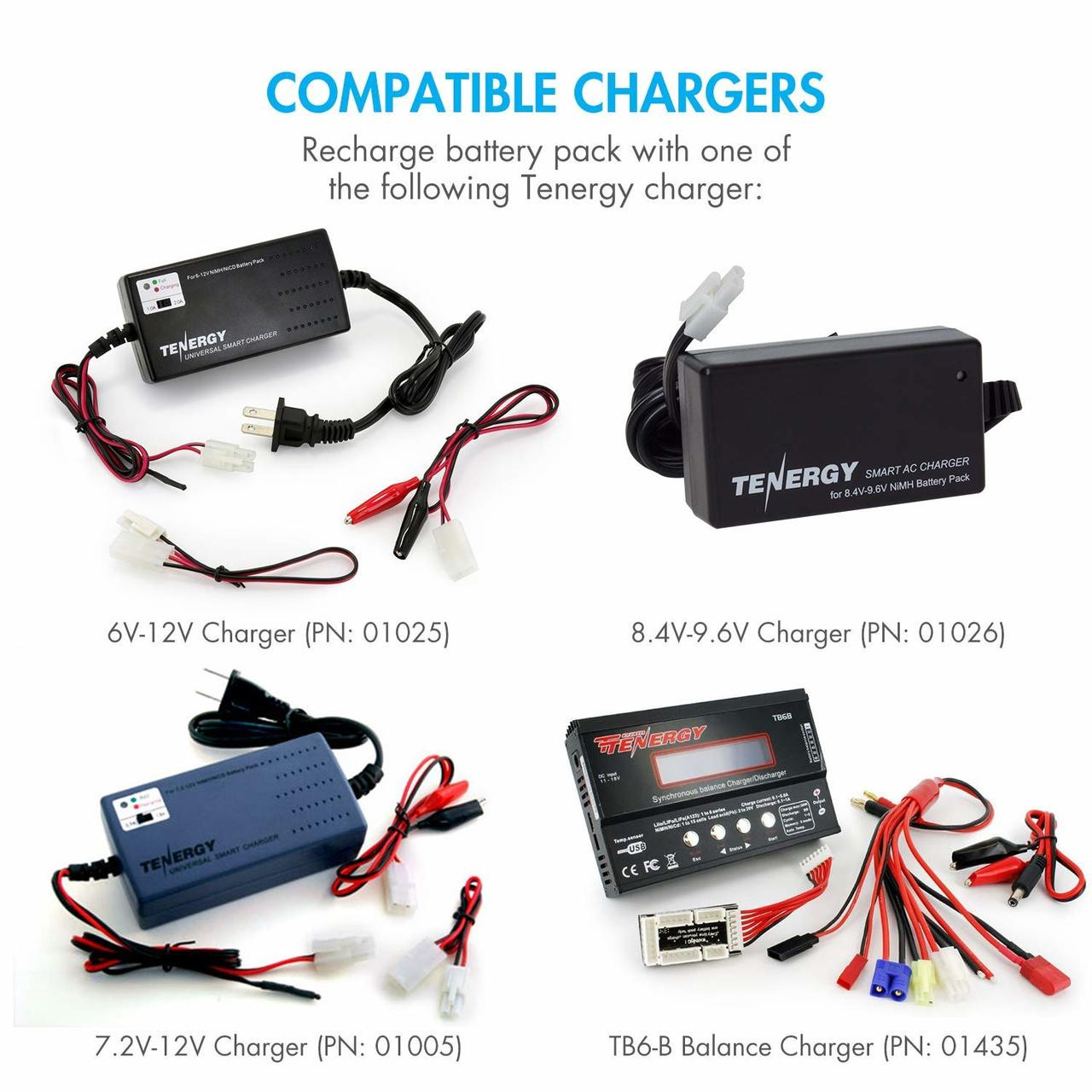 Tenergy NiMH 8.4V 3800mAh Battery Pack with Tamiya, for RC Cars