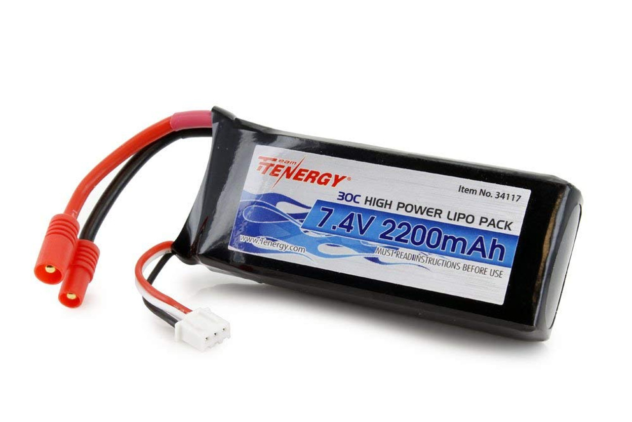 Combo: 3pcs of Tenergy 30C 7.4 V 2200mAh Replacement LiPo Battery for Syma X8C/X8W/X8G