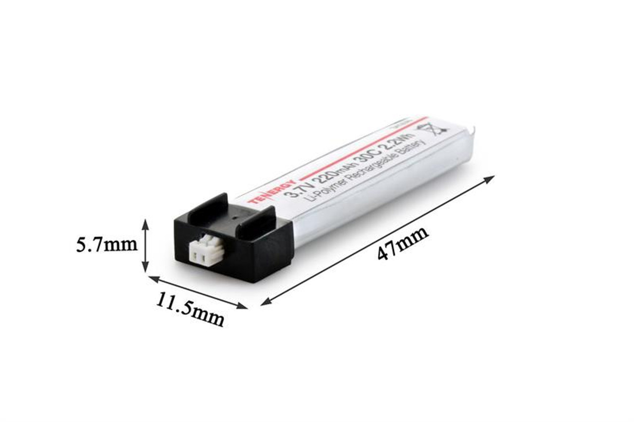 Combo: 6PCS Tenergy 3.7V 220mAh 30C LiPo Battery for FPV Micro Drones/Helicopters/Airplanes(Blade Inductrix,Nano CP S,CP X,mCX2,Tiny Whoop, and more)