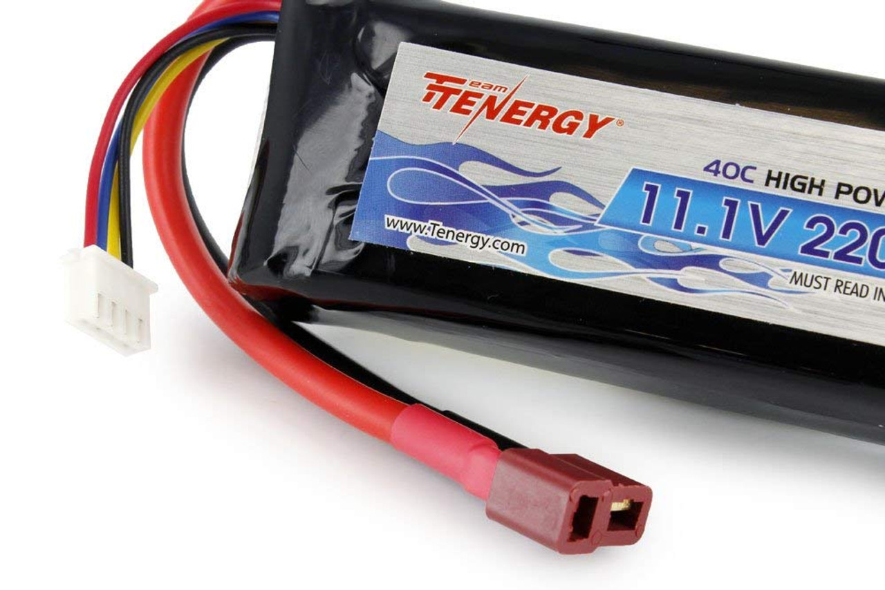 Tenergy 11.1V 2200mAh 40C LiPo Battery Pack w/ Deans Connector