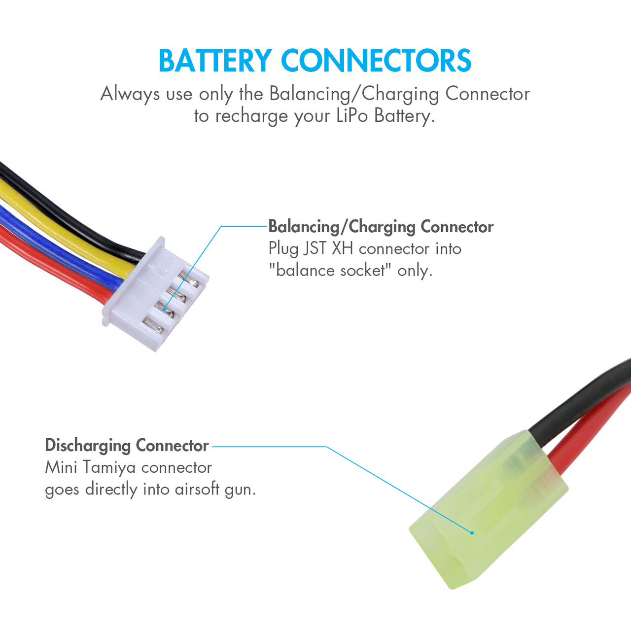 Li-ion Lipo Battery Balance Charger Cable Lead Connector 100mm 4S 14.8V
