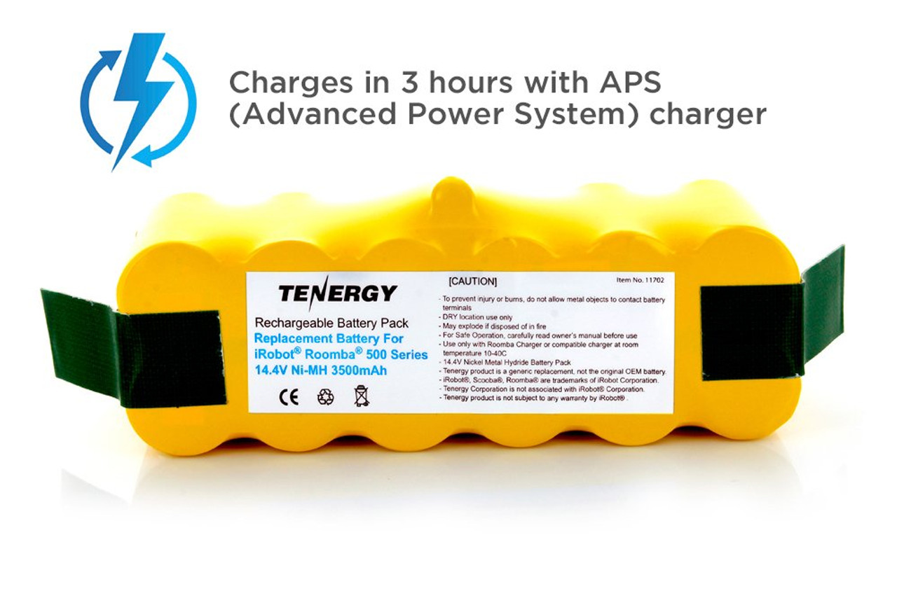 Tenergy Replacement Battery for iRobot R3 500, 600, 700 & 800 series 14.4V APS Battery