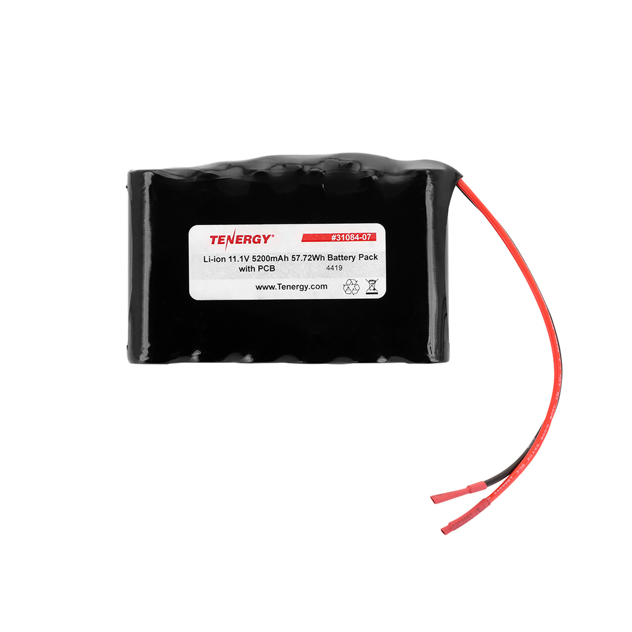 AT: Tenergy Li-ion 18650 11.1V 5200mAh Rechargeable Battery Pack w/ PCB (3S2P, 57.72Wh, 9A Rate)