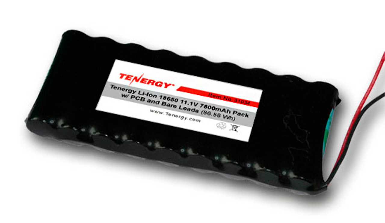 AT: Tenergy Li-ion 18650 11.1V 7800mAh Rechargeable Battery Pack w/ PCB (3S3P, 86.58Wh, 9A Rate)