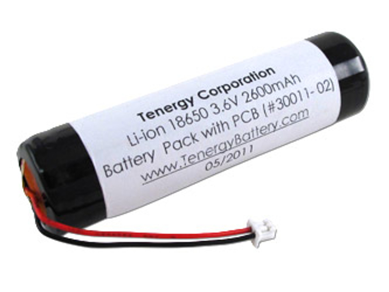 AT: Tenergy Li-ion 18650 3.7V 2600mAh Rechargeable Battery Pack w/ PCB (1S1P, 9.62Wh, 1.4A Rate, Molex Connector)