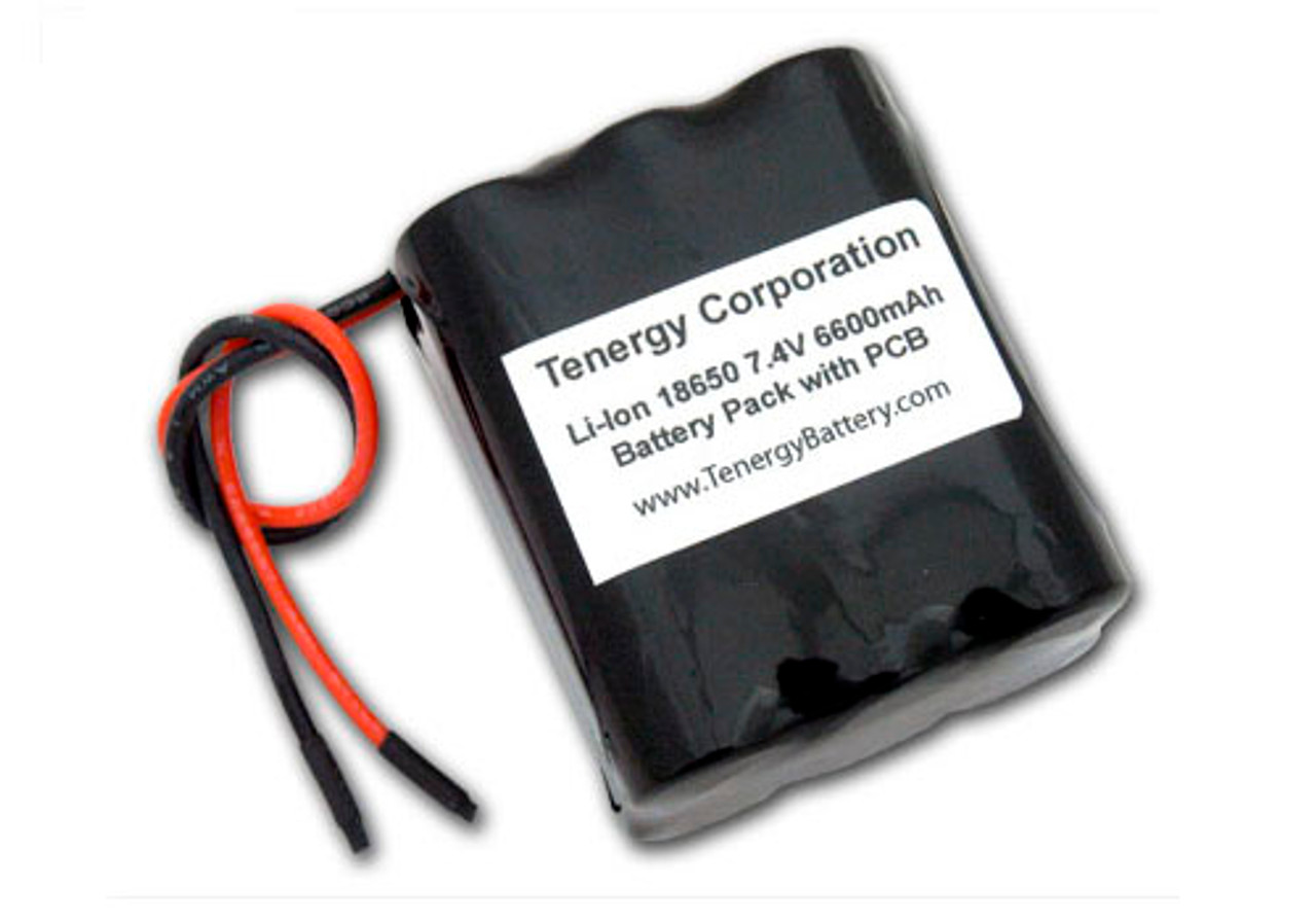 AT: Tenergy Li-Ion 18650 7.4V 6600mAh Rechargeable Battery Pack w/ PCB (2S3P, 48.84Wh, 5A Rate)
