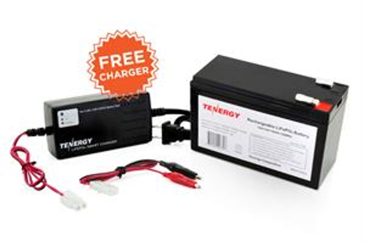 Tenergy 12.8V 10Ah LiFePO4 Rechargeable Battery + FREE 12.8V 1.5A LiFePO4 Battery Charger (#01303)   (DGR-A)