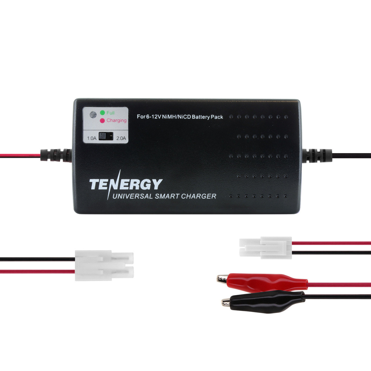 Tenergy Smart Universal Charger for NiMH/NiCd Battery Packs: 6V - 12V (UL)