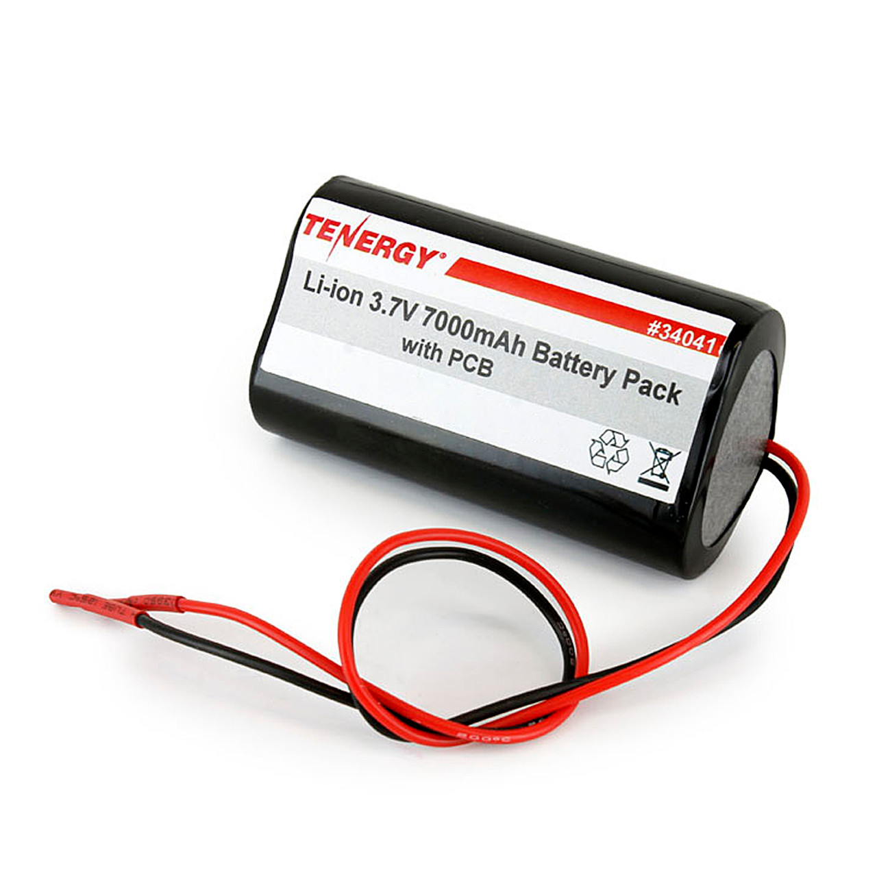 AT: Tenergy Li-ion 18650 3.6V 7000mAh Rechargeable Battery Pack w/ PCB (1S2P, 25.20Wh, 6A Rate)