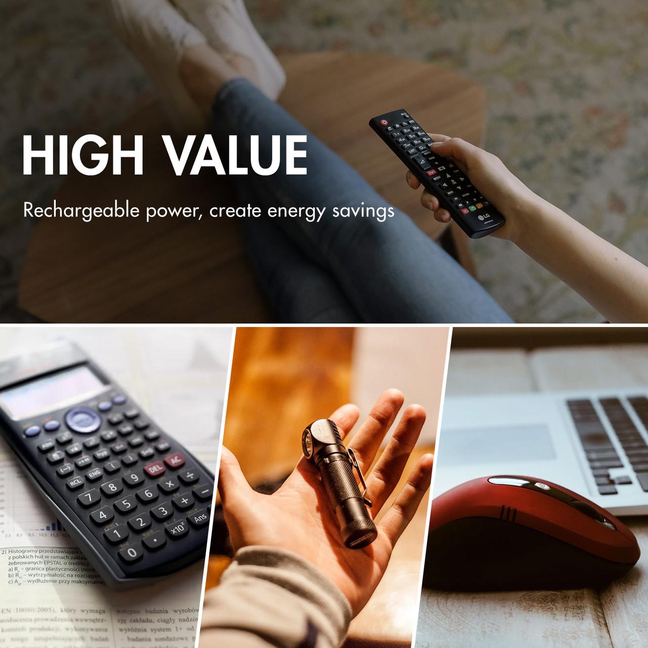 Combo: 24 pcs Tenergy AAA 1000mAh NiMH Rechargeable Batteries