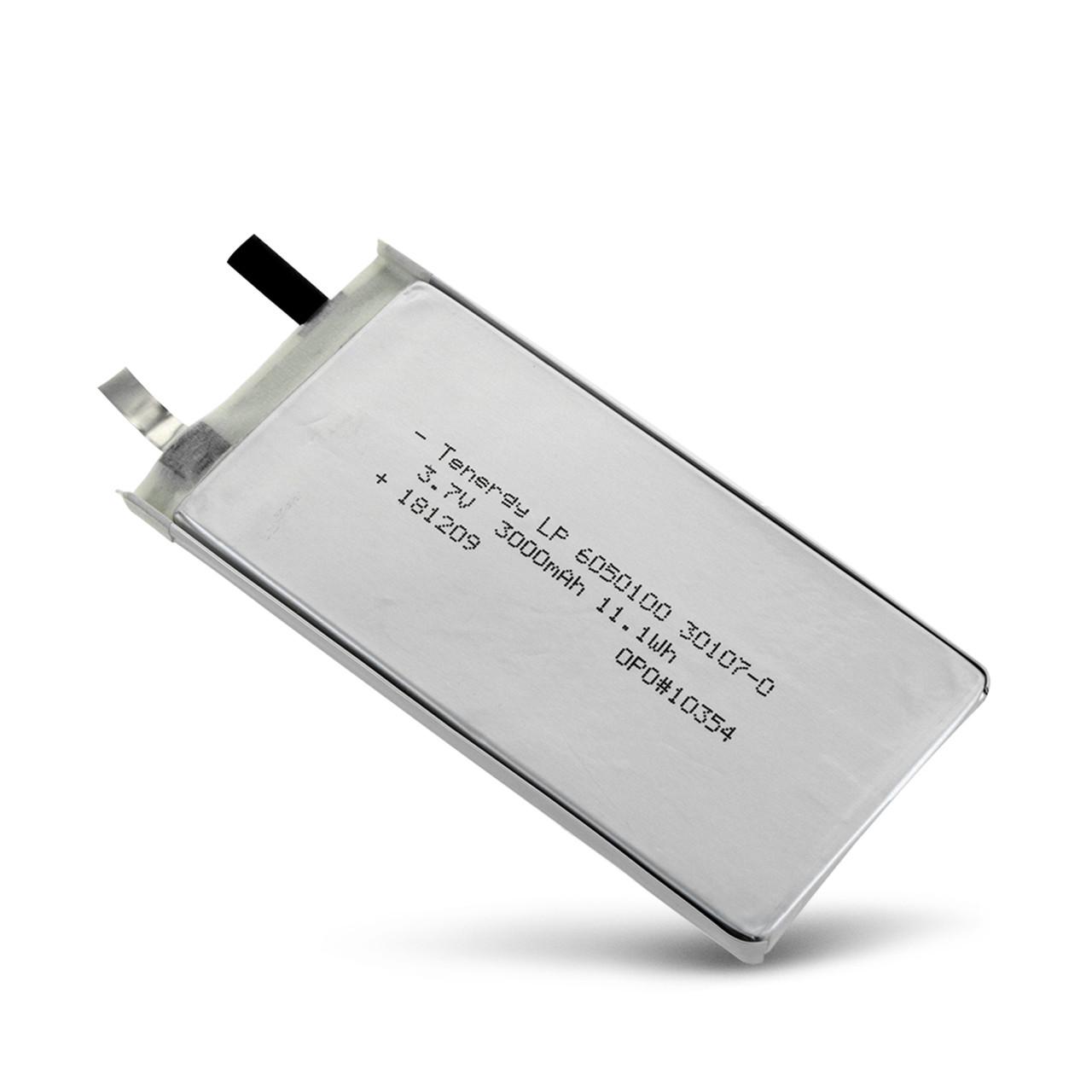 Tenergy Li-Polymer 3.7V 3000mAh (6050100) Battery - UL Listed