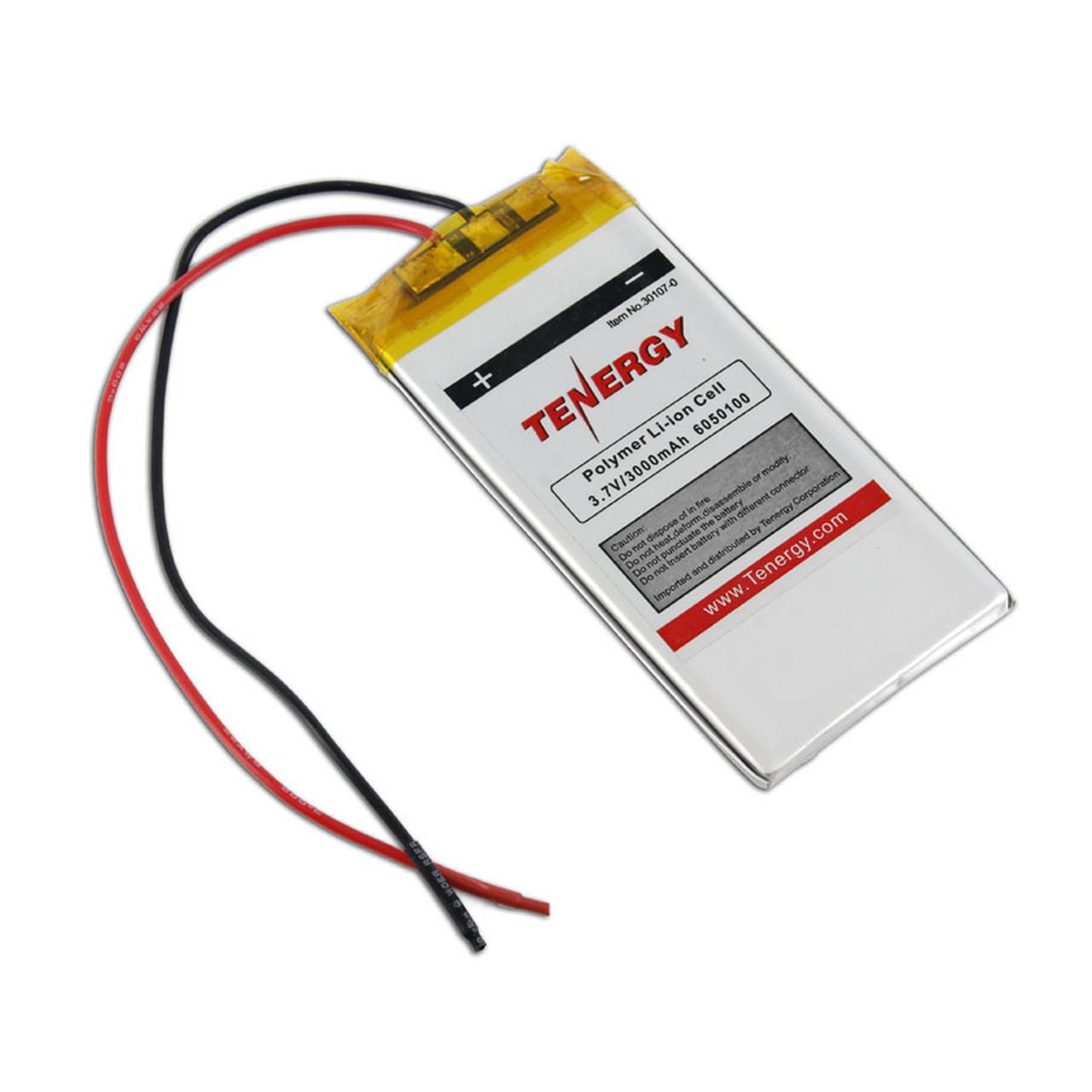 Tenergy Li-Polymer 3.7V 3000mAh (6050100) Battery